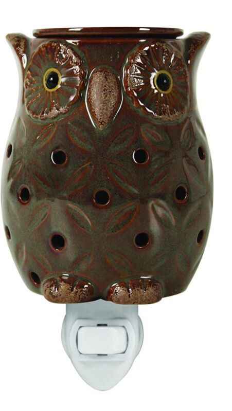 Tuscany Candle Brown Owl design plug outlet wax melt warmer