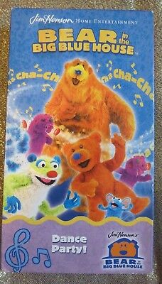 BEAR IN THE BIG BLUE HOUSE ~ DANCE PARTY ~ VHS, 2002 ~ JIM HENSON ~ 1+ SHIP  - Dancing Bear Parties