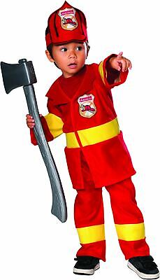 Red Junior Firefighter Toddler Costume