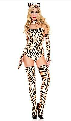 Music Legs Tiger print strapless teddy Halloween Costume 70649