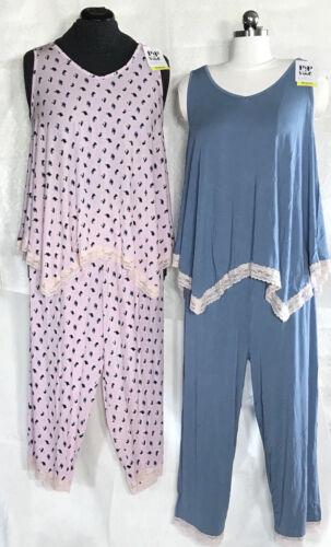 Maternity Rosie Pope Pajama Sleep Set Tank & Capris Floral or Blue S, M, L $58