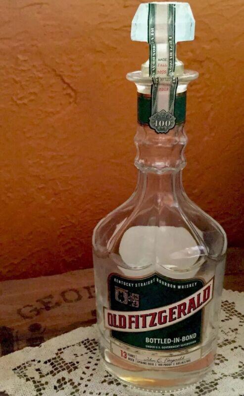 Old Fitzgerald Decanter Bottled In Bond 13 Year Bourbon Empty Bottle Fall 2005