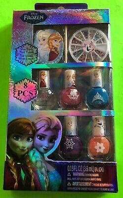 New 8 pcs Disney Frozen Nail Art Collection Polish Gift Set Peel-Able