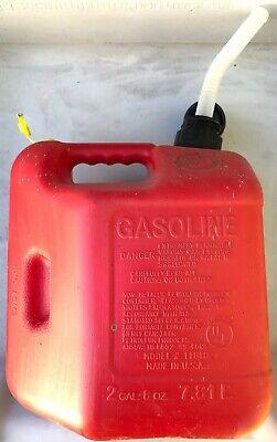 Vintage 2 Gal 8 Oz Blitz 11810 2 Plus Easy Grip Vented Gas Can Usa