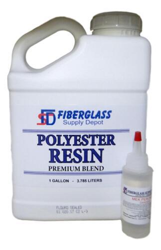 Polyester Resin w/hardener for laminating fiberglass mat, biaxle, cloth (GALLON)
