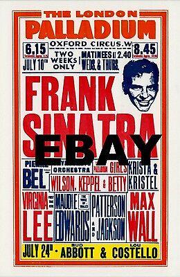 "Frank Sinatra London Palladium 16"" x 12"" Photo Repro Concert Poster"