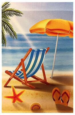 Beach Chair Decorations (Relax on Beach Chair Garden Flag 12