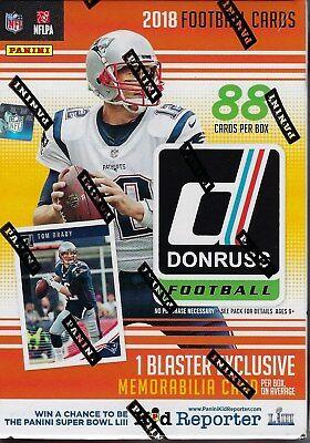 2018 Donruss Football NFL Trading Cards New 88ct. Retail Blaster Box = Mem Card