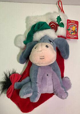 Disney Candy Cane Christmas 2000 Eeyore Plush Musical Stocking Winnie The Pooh