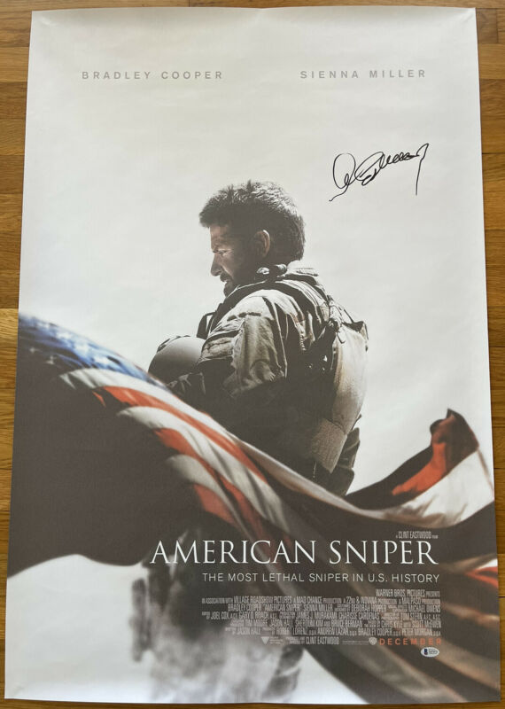 CLINT EASTWOOD SIGNED AMERICAN SNIPER 27x40 MOVIE POSTER BECKETT BAS LOA #A67472