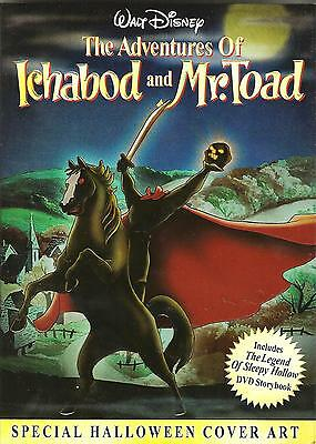 Disney THE ADVENTURES OF ICHABOD AND MR. TOAD with Special Halloween Cover DVD