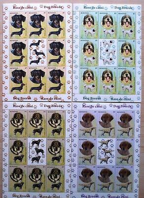 Rumänien 2012 Mi. 6640-43 Kleinbogen ** MNH Hunde Dogs Michel 160, -- €