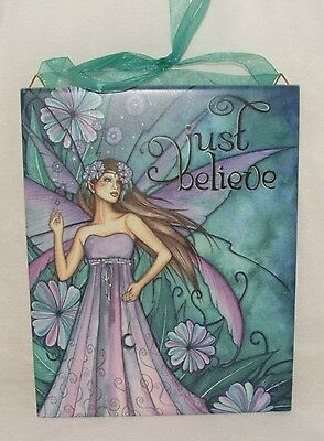 JESSICA GALBRETH Fairy Decor JUST BELIEVE Fairie Wall Art CERAMIC TILE 8x10 READ
