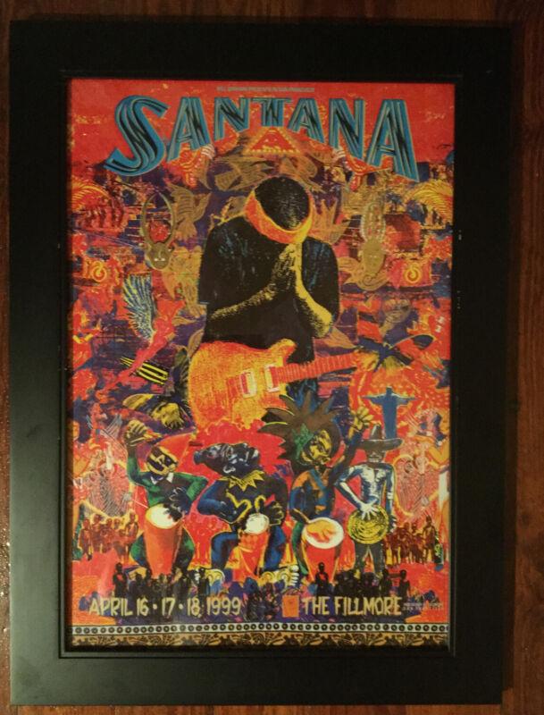Mint SANTANA Fillmore Poster 1999 Unframed