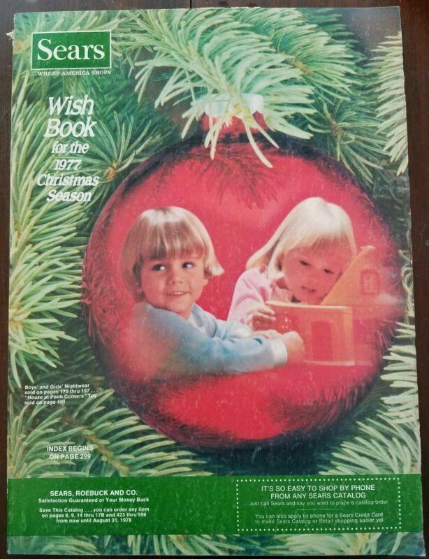 SEARS WISH BOOK ~ 1977 Christmas Catalog ~ Barbie ~ Holly Hobbie ~ Batman