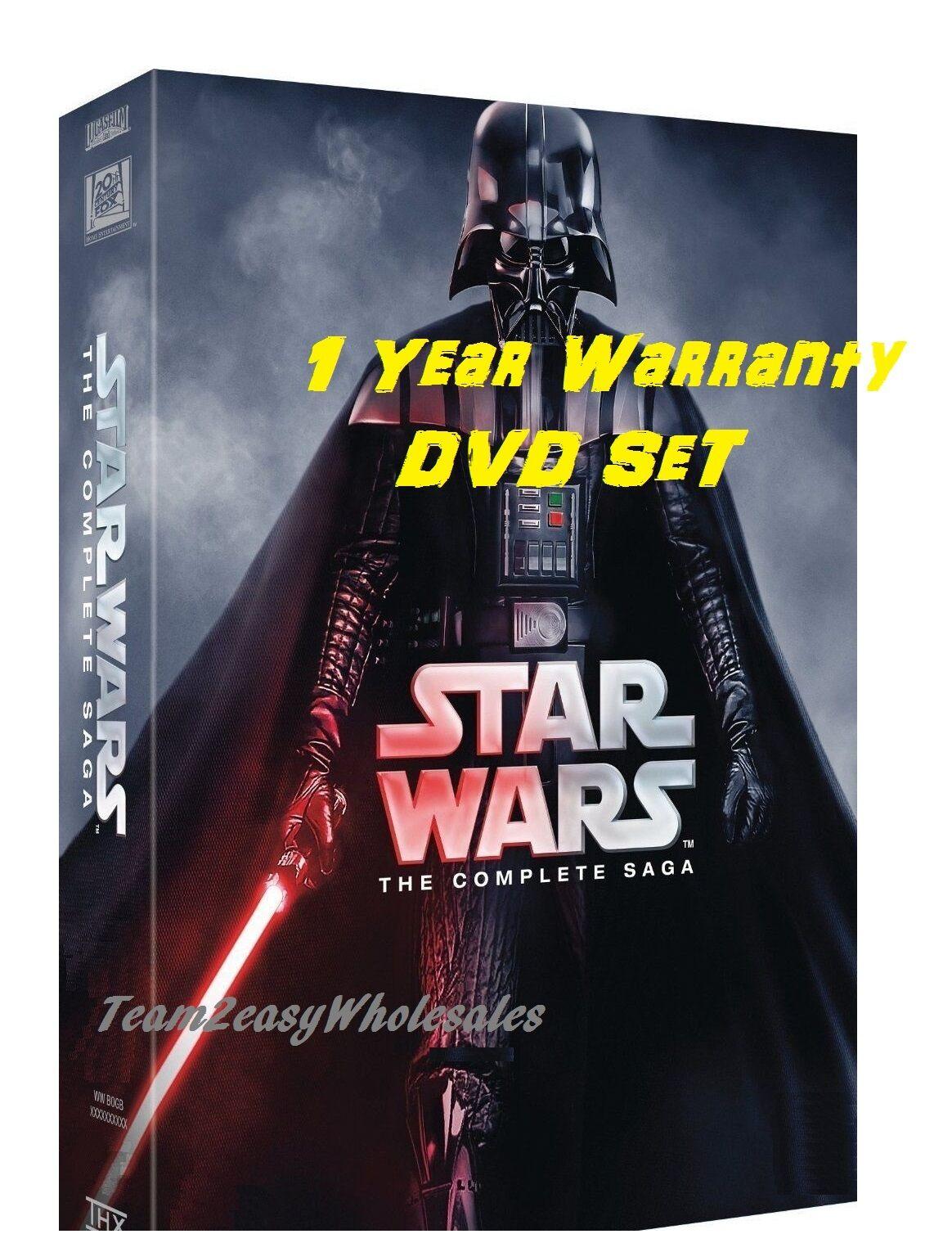 NEW Star Wars: The Complete Saga DVD (I,II,III,IV, V, VI, 12-Disc Box Set 1-6)