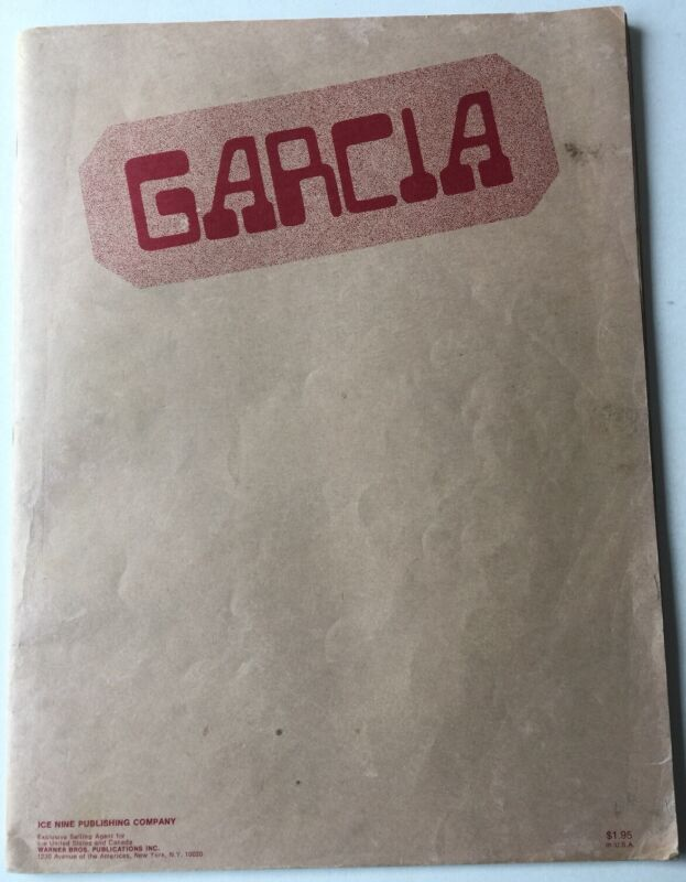 1971 Garcia Song Book By Ice Nine Publishing Company