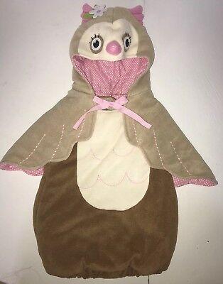Childs Owl Costume (Pottery Barn Kids OWL 2 Pc Costume HALLOWEEN Fleece Girls 6-12)