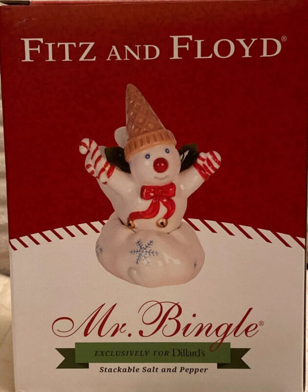 Mr Bingle Fitz and Floyd 2017 Snowman Stackable Salt & Pepper LIMITED EDITION