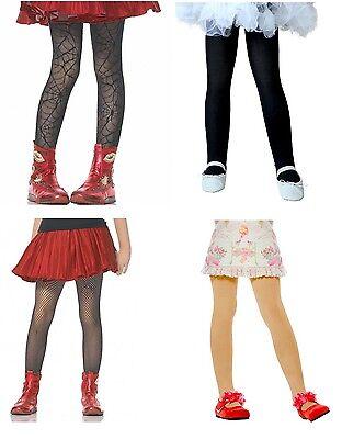 HALLOWEEN CHILD TIGHTS ~ Costume Birthday Party Supplies Fishnet Spiderweb Black