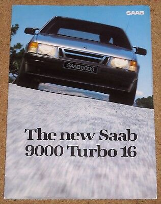 1984 SAAB 9000 TURBO 16 UK Launch Sales Brochure - Large Format