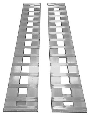 "120"" x 15"" ALUMINUM RAMPS 10,000lb CAR TRUCK TRAILER ramp auto Hook ends 1-setHD"