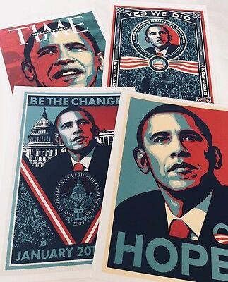 SHEPARD FAIREY art print (4pc set) HOPE collection large size