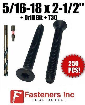 200 pcs Trailer Floor Floorboard Deck Screws Fully Threaded 5//16-18 X 1 1//4