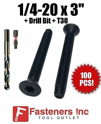 200 pcs 1//4-20 X 1-1//2 Trailer//Dock Truck Floor FLOORBOARD Deck Screws T30 Drive