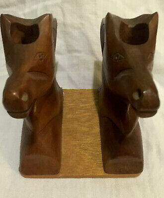 Vintage Wooden Horses  Candle Holders