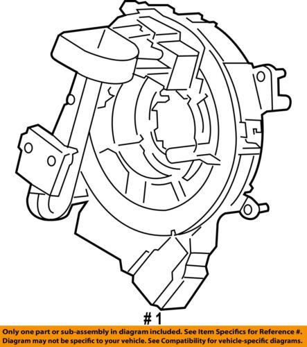 Ford Oem 15 18 F 150 Airbag Air Bag Clockspring Clock Spring