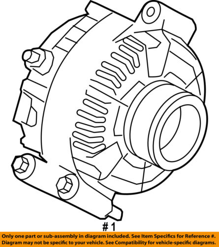 Ford Oem 08 10 F 350 Super Duty Alternator 7c3z10346ea