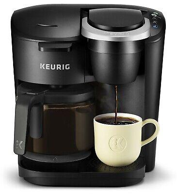 Keurig K-Duo Essentials Coffee Maker, Single K-Cup Pod & 12 Cup Brewer, Diabolical