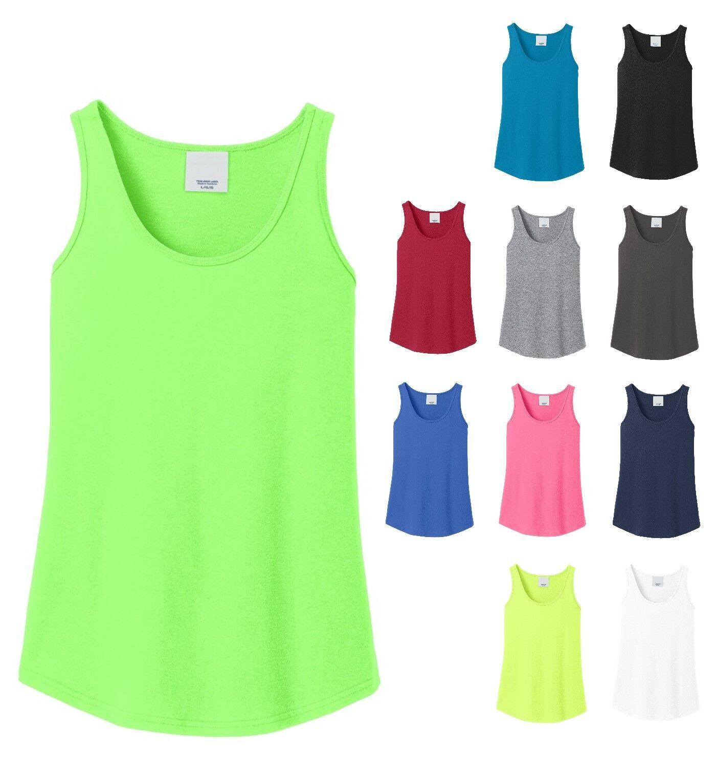 ladies tank top layerable cotton or blend