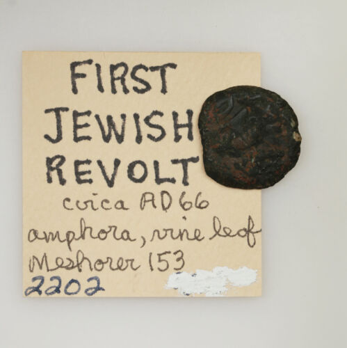 Ancient Coin From The First Jewish Revolt Circa AD66