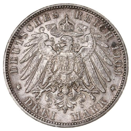 Raw 1909 J Germany Hamburg 3 Mark