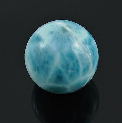 Larimar Polished Sphere Ball Dominican Republic 24G 1 0 W  Healing Property Card