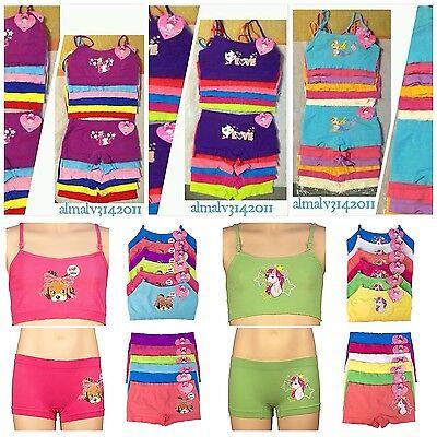 Microfiber Cami Set - (6)Sets.. Bra Crop Top Cami Seamless Microfiber & Seamless Boxer Panty underwear