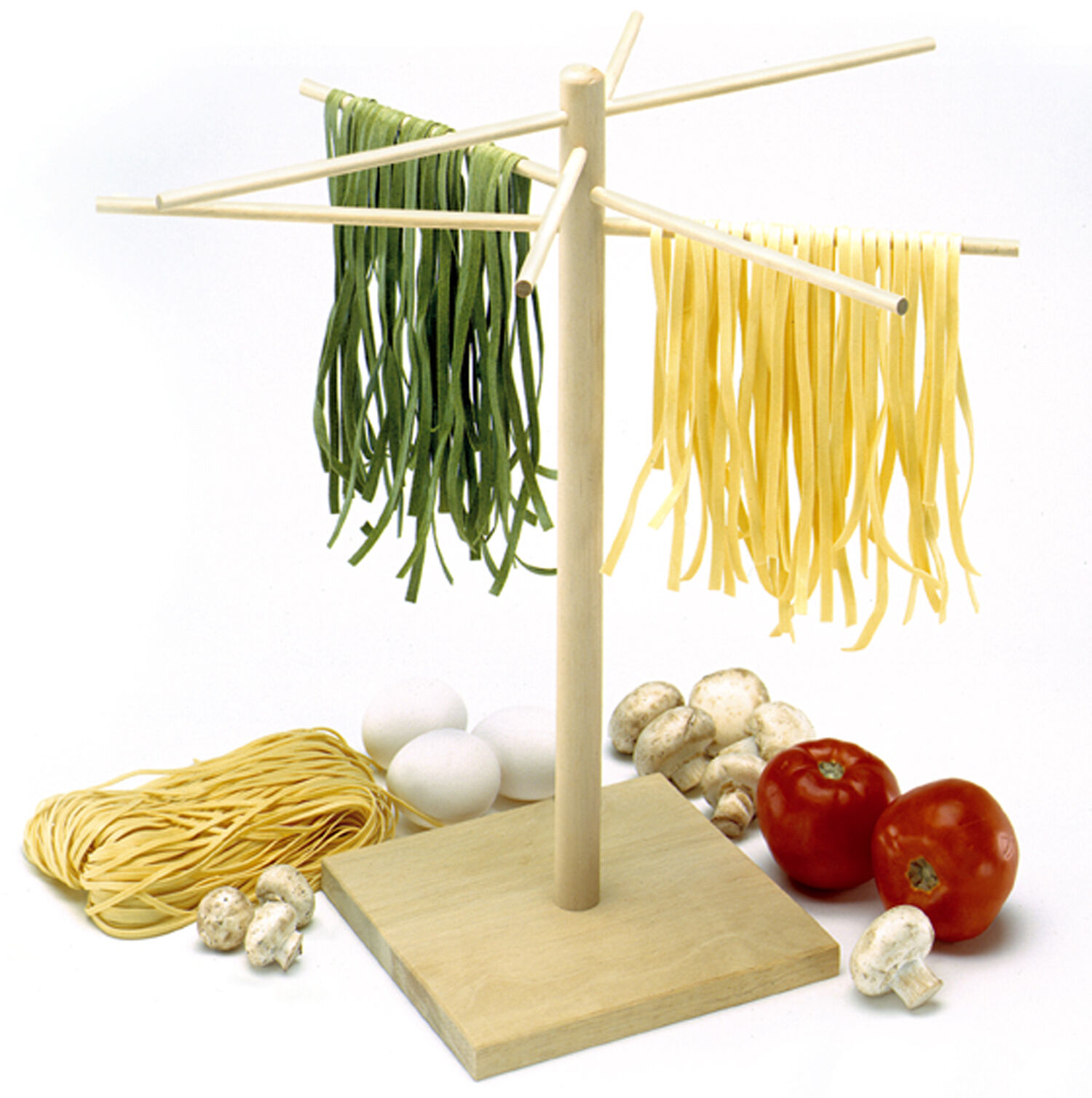 Norpro 1048 Deluxe 16.5 Pasta Drying Rack Stand With 8 Drying Arms on Sale