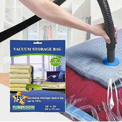 10 PACK XL Space Saver Extra Large Vacuum Storage Bag 90X70cm ZIPLOC FAST SHIP ()