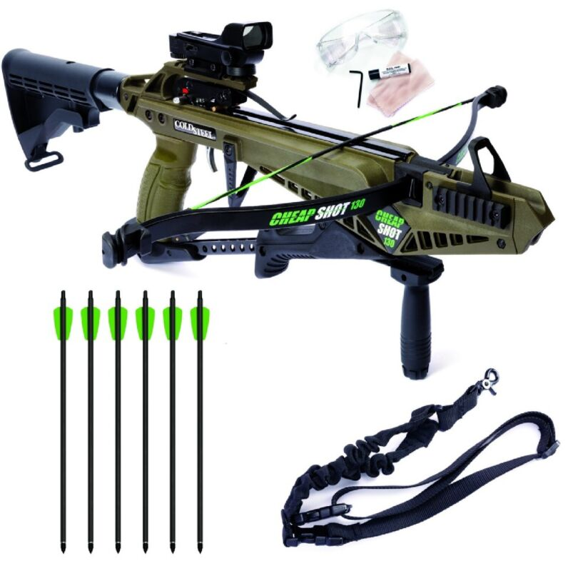 Cold Steel Cheap Shot 130 Crossbow Kit CS13 with Sight and Bolts