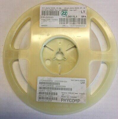 Phycomp Resistors Smd 0402 0 Ohm 10000 Pcs