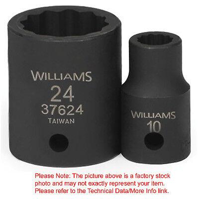 22mm Williams 32722 1//2-Inch Drive 6 Point Deep Socket