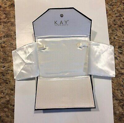 Kay Jewelers Velvet Necklace Folder Holder with Box - Empty Box & Folder ONLY