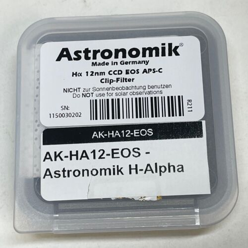 Astronomik H-Alpha Filter 12nm ccd filter clip in for Canon cameras