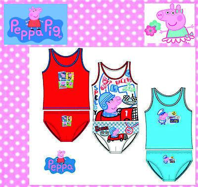 Peppa Pig Wutz Unterwäsche Set Hemd+Höschen 2-8 Jahre Kinder Disney