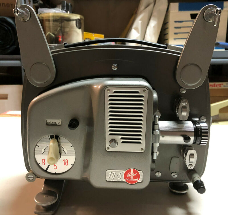 Vintage BOLEX Model: 18-5 Auto Paillard 8mm Projector Swiss Made
