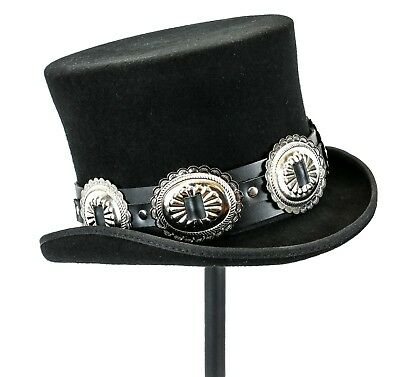 Mad Hatters Hat (Conch Wool Felt Top Hat Steampunk Topper Victorian Mad Hatter Slash Flat)