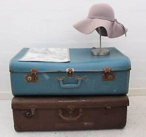 2 Vintage Suitcases Fremantle Fremantle Area Preview