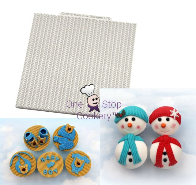 Katy Sue CABLE KNIT Pattern Silicone Sugarcraft Cake Mould